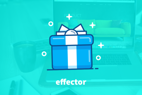 Social Media Competition. An aqua background with a macbook pro faded out, In the centre of the image sits a cartoon blue box with a lid and a white stripe down the centre with a bow on top.